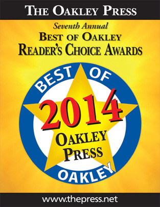 Voted Oakley's Best Dental Office and Best Cosmetic Dentistry
