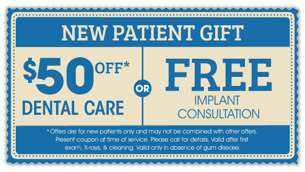 New Patient Gift: $100 Off Dental Care OR Free Take-Home Whitening